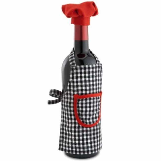The Apron and Hat Chef S... is listed (or ranked) 1 on the list Ridiculous Wine Bottle Covers You Need Immediately