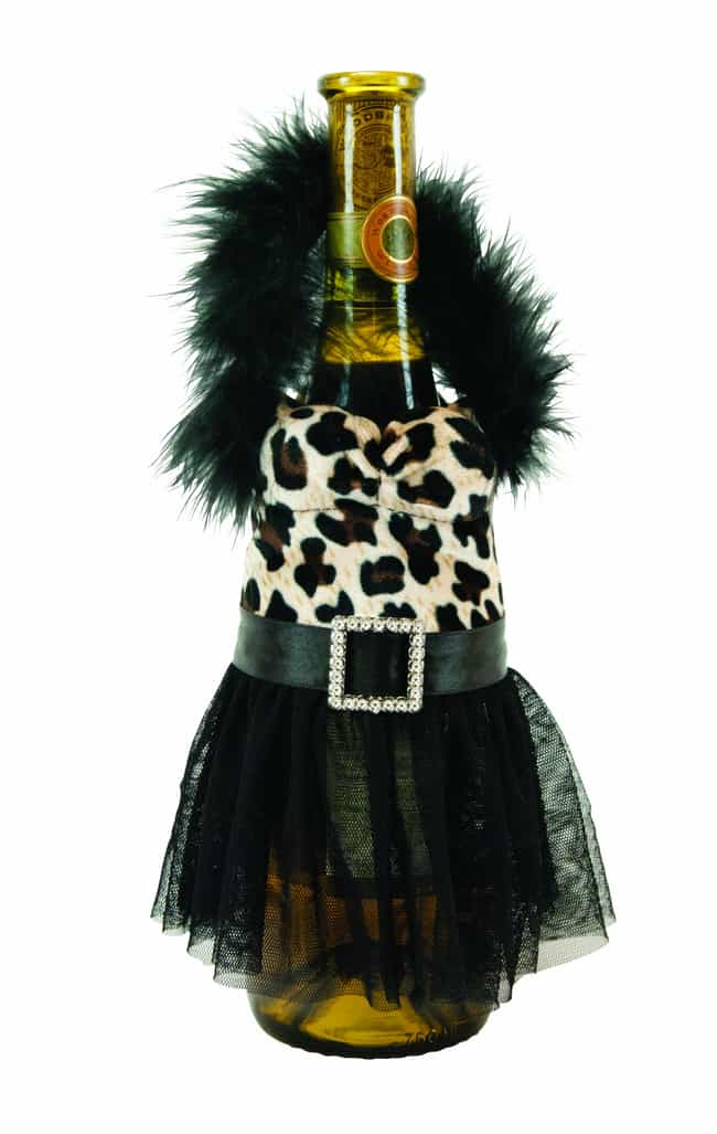 The Pretty (?) Leopard D... is listed (or ranked) 2 on the list Ridiculous Wine Bottle Covers You Need Immediately