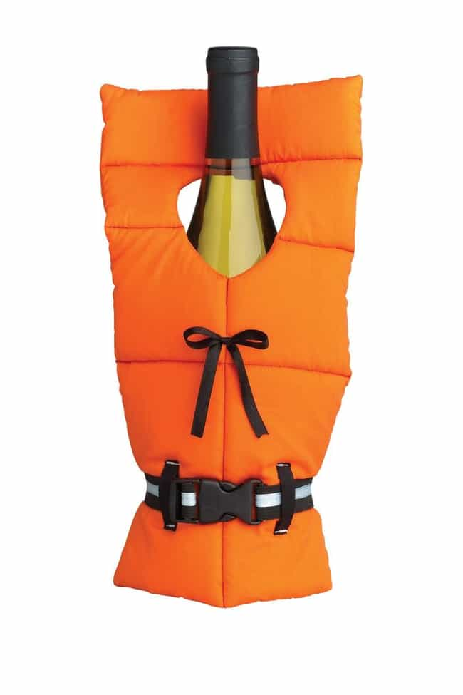 The Life Preserver is listed (or ranked) 3 on the list Ridiculous Wine Bottle Covers You Need Immediately