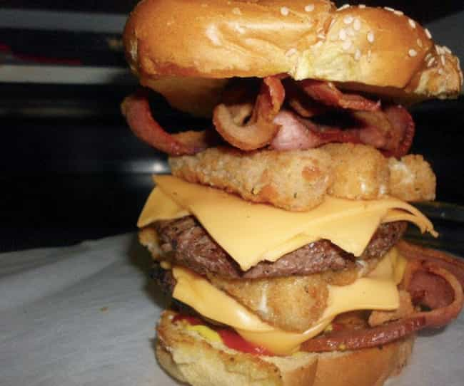 The 666 Burger is listed (or ranked) 2 on the list The Craziest Burgers You Can Actually Order (If You Dare)