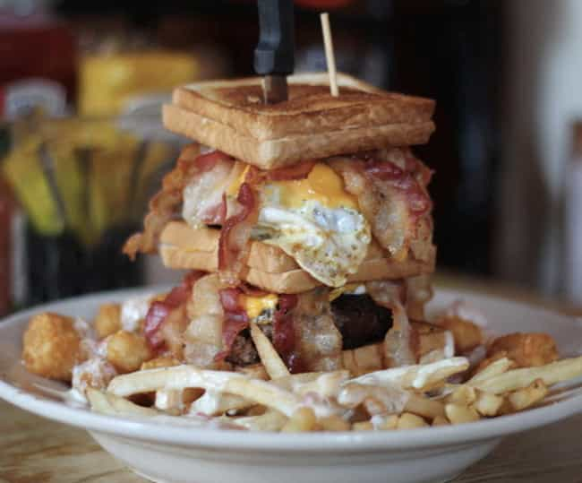 The Triple Coronary Bypass (ak... is listed (or ranked) 1 on the list The Craziest Burgers You Can Actually Order (If You Dare)