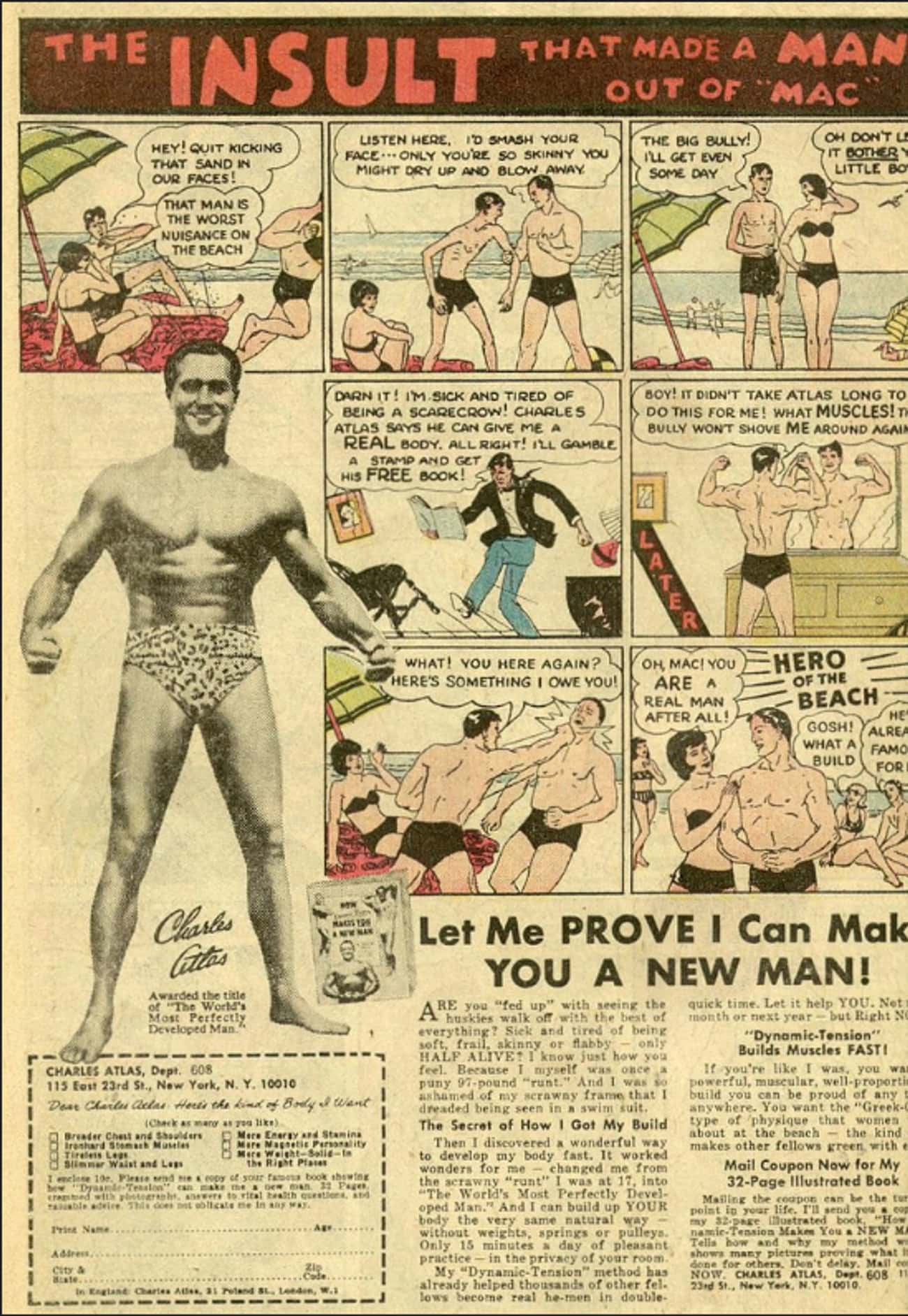 Charles Atlas is listed (or ranked) 3 on the list The Best Vintage Ads in Comic Books