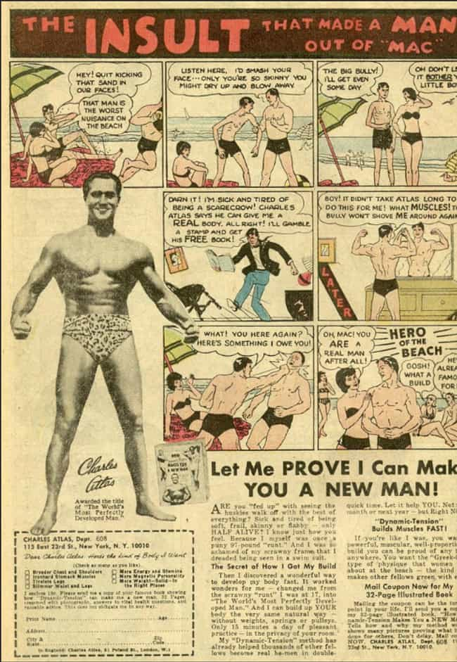 Charles Atlas is listed (or ranked) 4 on the list The Best Vintage Ads in Comic Books
