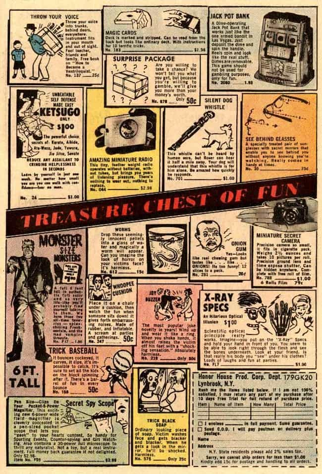 Treasure Chest of Fun is listed (or ranked) 4 on the list The Best Vintage Ads in Comic Books