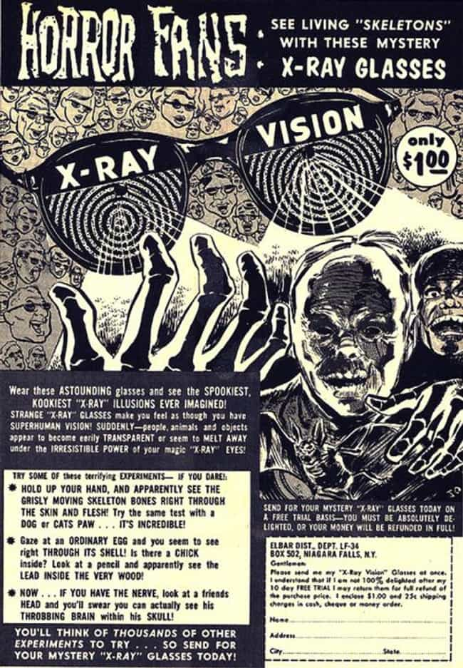 X-Ray Vision Goggles is listed (or ranked) 3 on the list The Best Vintage Ads in Comic Books
