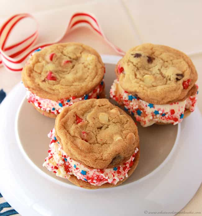 Patriotic Ice Cream Sandwiches is listed (or ranked) 4 on the list Patriotic Party Ideas for Your July 4th Bash