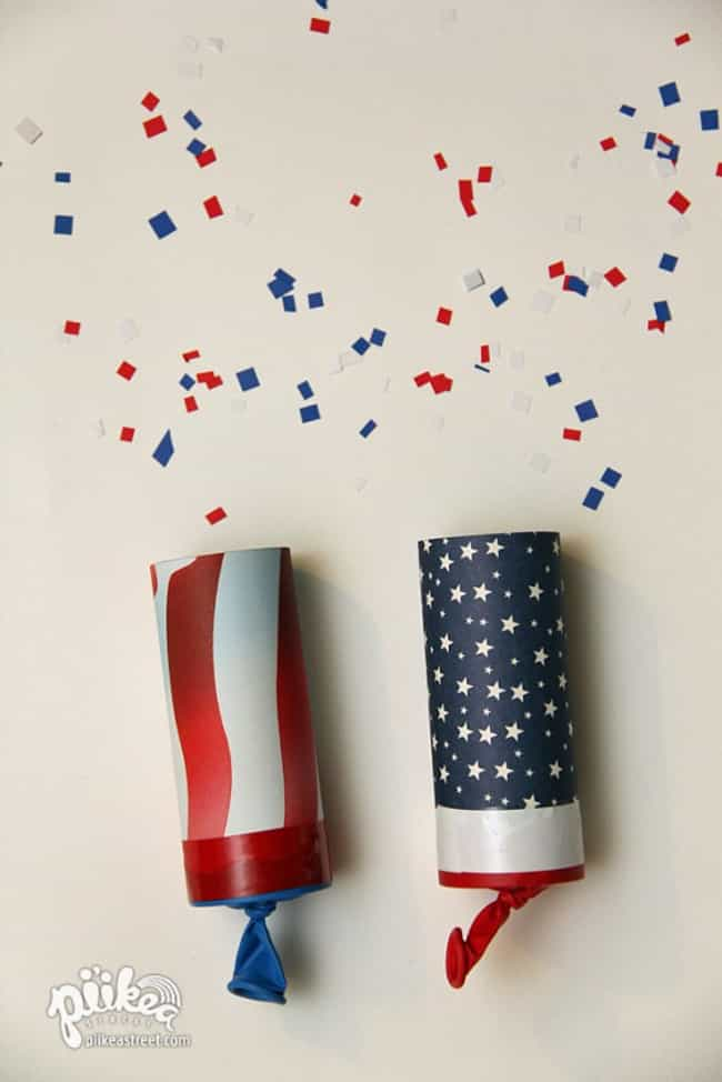 Confetti Launchers is listed (or ranked) 3 on the list Patriotic Party Ideas for Your July 4th Bash