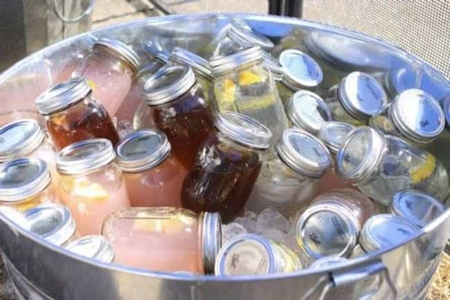 Pre-Made Drinks in Mason Jars is listed (or ranked) 1 on the list Patriotic Party Ideas for Your July 4th Bash