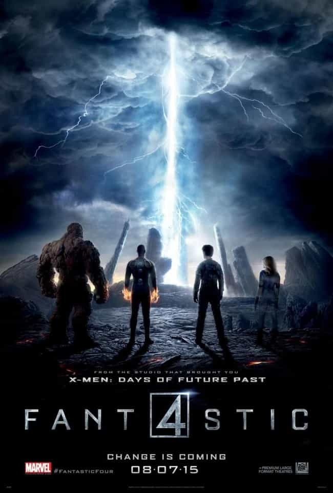 Fantastic Four (2015) is listed (or ranked) 2 on the list The Worst Comic Book Movie Posters