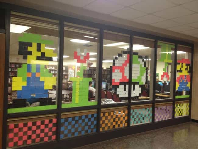 Mario and Luigi is listed (or ranked) 3 on the list 18 Awesome Post-it Note Art Creations