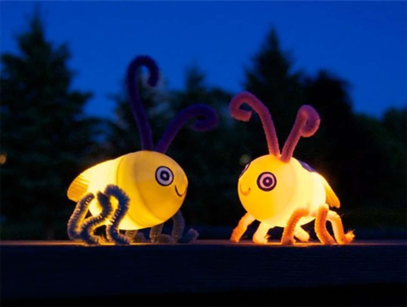 Light up Fireflies is listed (or ranked) 3 on the list Fun Summer Crafts That'll Keep Your Kids Busy