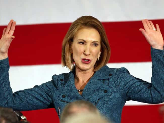Carly Fiorina's Blunders a... is listed (or ranked) 4 on the list The Most Scandalous 2016 Presidential Candidate Controversies