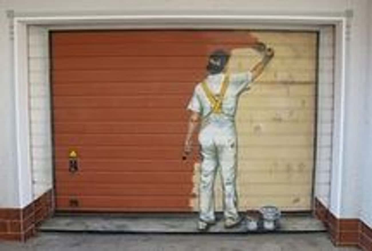 Forever Under Construction is listed (or ranked) 1 on the list The Most Creative Garage Door Art of All Time