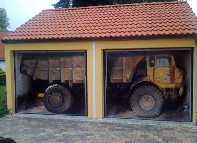 garage art | cool garages and garage doors