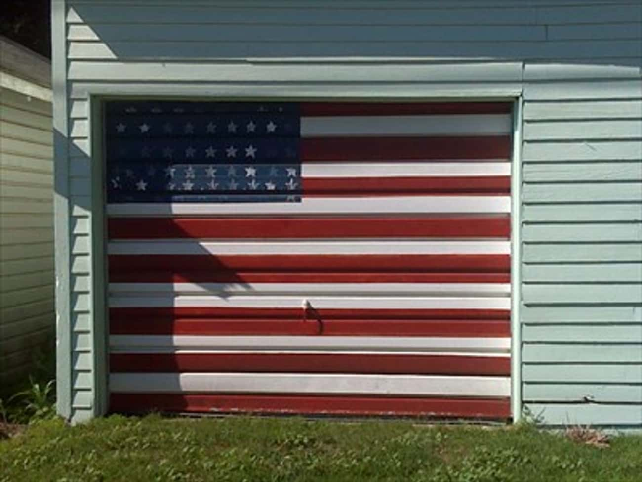 USA! USA! USA! is listed (or ranked) 4 on the list The Most Creative Garage Door Art of All Time