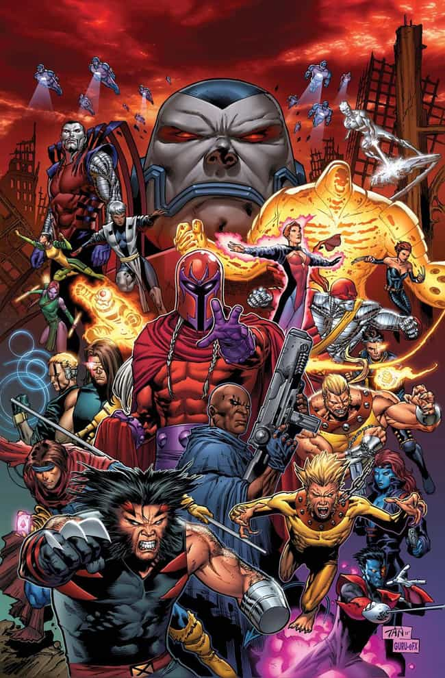 Age of Apocalypse is listed (or ranked) 4 on the list The Most Destructive Comic Book Events
