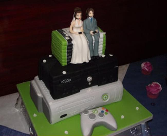 Image of Random Magnificently Geeky Wedding Cake Toppers