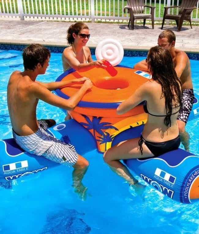 Floating Aqua Table is listed (or ranked) 4 on the list 20 Fun Pool Toys You Need This Summer