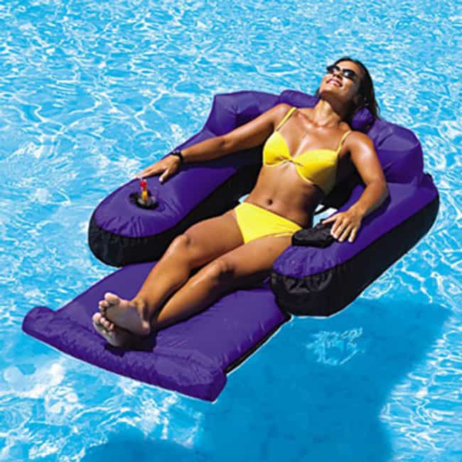 Ultimate Floating Pool Lounge is listed (or ranked) 2 on the list 30 Fun Pool Toys You Need This Summer