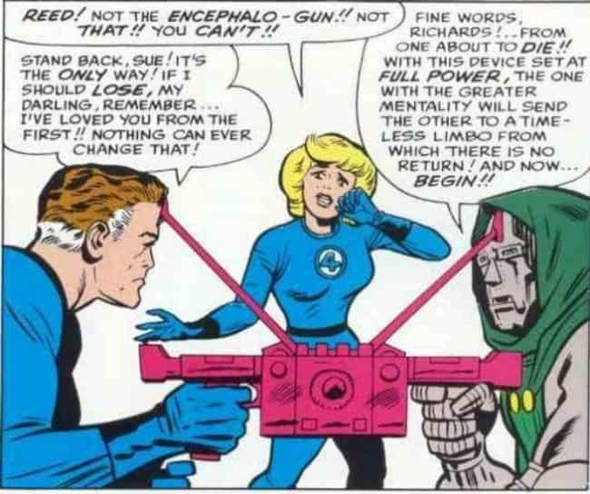 The Encephalo-Gun is listed (or ranked) 1 on the list The Lamest Weapons in Comic Books