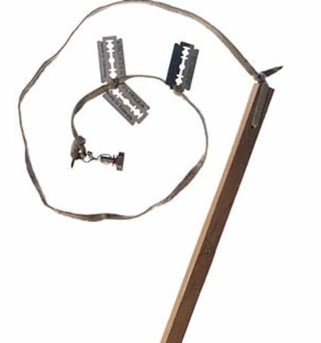 Wooden Post Razor Whip is listed (or ranked) 4 on the list Everyday Objects That Were Turned Into Prison Weapons