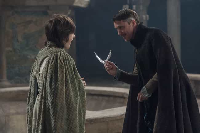Littlefinger Predicts All the ... is listed (or ranked) 2 on the list 25 Game of Thrones Easter Eggs Hidden Throughout the Series