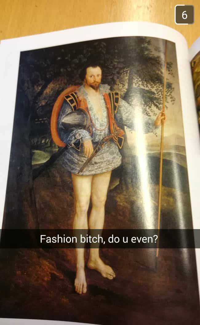 Art History Class Meets ... is listed (or ranked) 4 on the list The Greatest Snapchats Sent During Class