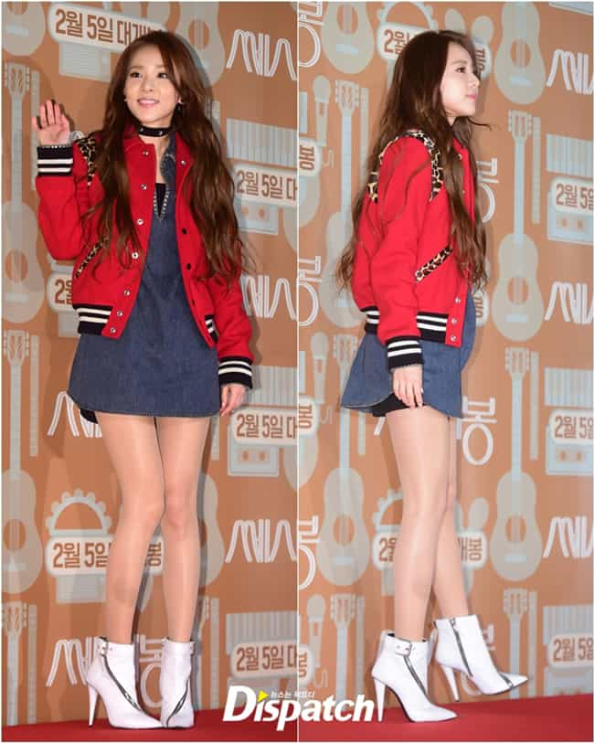 Sandara's Jacket is listed (or ranked) 4 on the list KPop Stars Wearing the Same Clothes