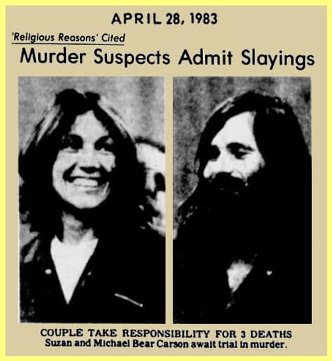 Suzan and James Carson is listed (or ranked) 2 on the list The 20 Most Deadly Serial Killer Couples