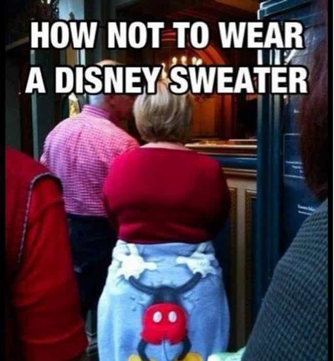 This Handsy Mickey Sweatshirt is listed (or ranked) 1 on the list 32 Epic Souvenir Fails