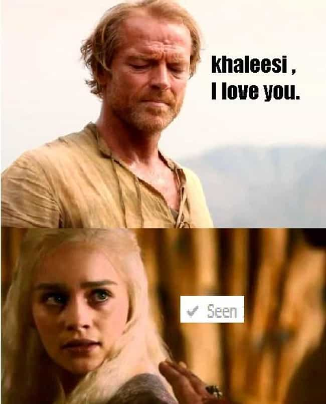 OMG Pls Respond is listed (or ranked) 1 on the list Jorah Mormont's Life In The Friendzone