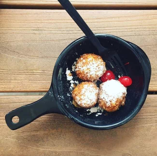 Deep Fried Cookie Dough is listed (or ranked) 5 on the list The Craziest, Most Delicious Fair Food