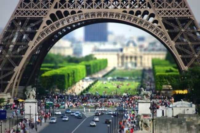 The Eiffel Tower Embiggened is listed (or ranked) 4 on the list Unreal Tilt-Shift Photos of Landmarks