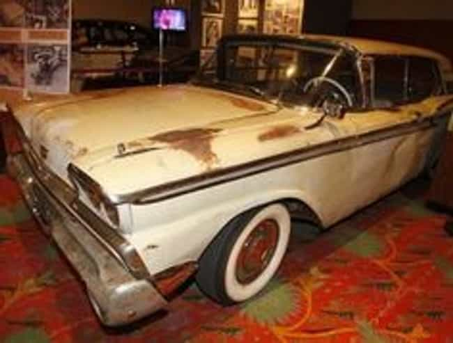 Manson Family's 1959 Ford ... is listed (or ranked) 4 on the list 20 Serial Killer Cars You Wouldn't Want to Cut Off