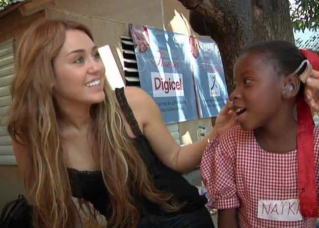 She Went to Haiti to Distribut... is listed (or ranked) 4 on the list 20 Times Miley Cyrus Was a Good Role Model