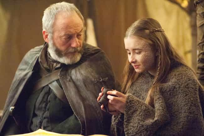 Shireen and Davos Share a Tend... is listed (or ranked) 1 on the list The Nicest Moments from Game of Thrones That Led to the Worst