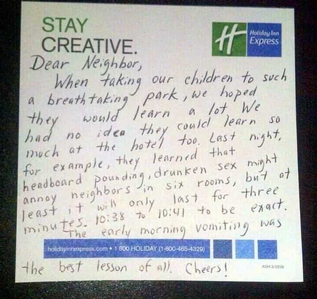 Life Lessons in Three Minutes ... is listed (or ranked) 4 on the list 32 Hilariously Passive Aggressive Sex Notes