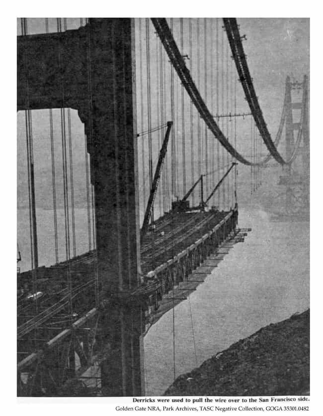 Golden Gate Bridge Const... is listed (or ranked) 3 on the list 18 Astonishing Photos of San Francisco History
