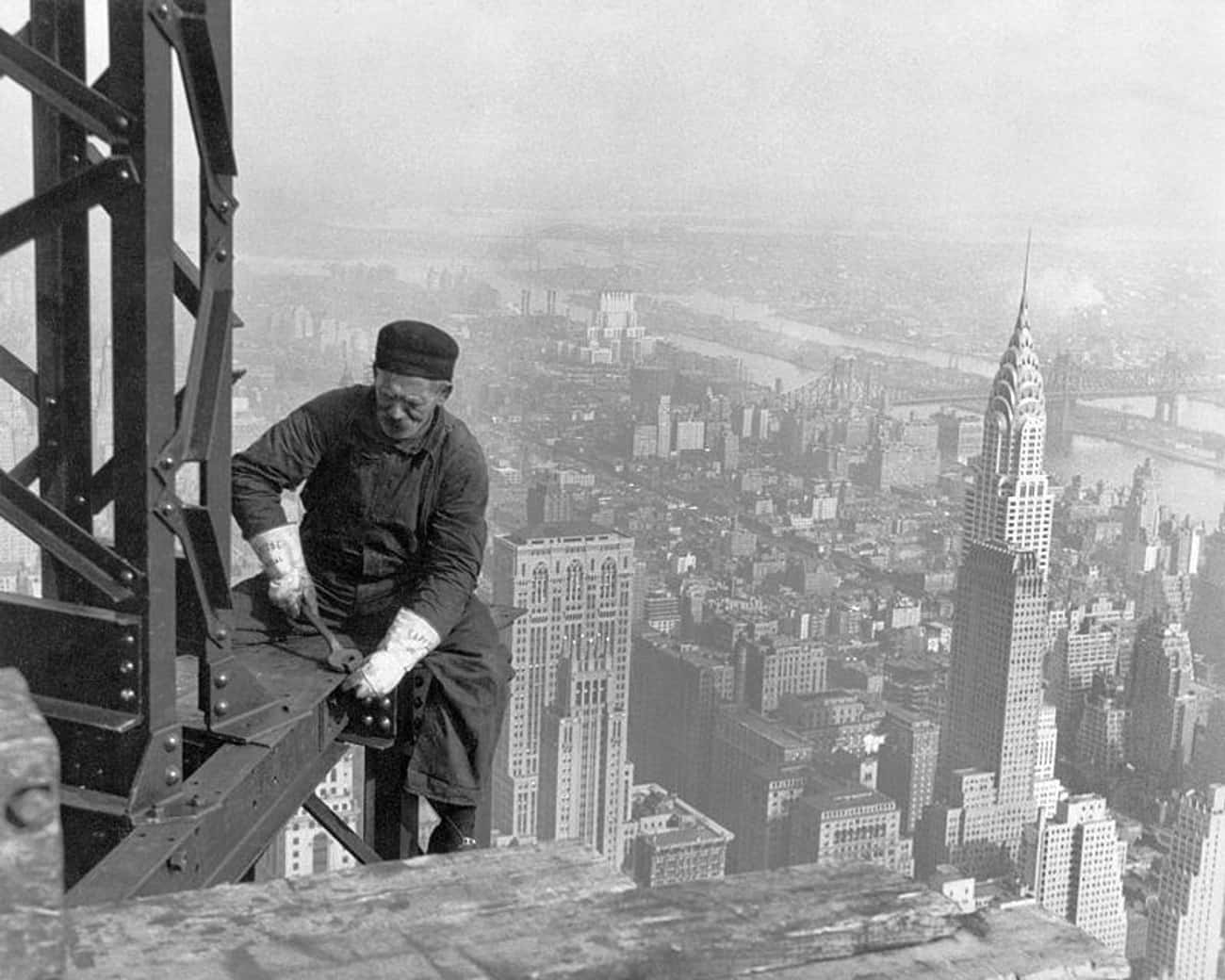 Empire State Building Construc is listed (or ranked) 1 on the list 15 Beautiful Old New York Photos