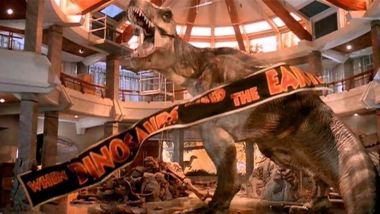 The Banner From 'Jurassic Park is listed (or ranked) 1 on the list 21 Easter Eggs Hidden in 'Jurassic World'