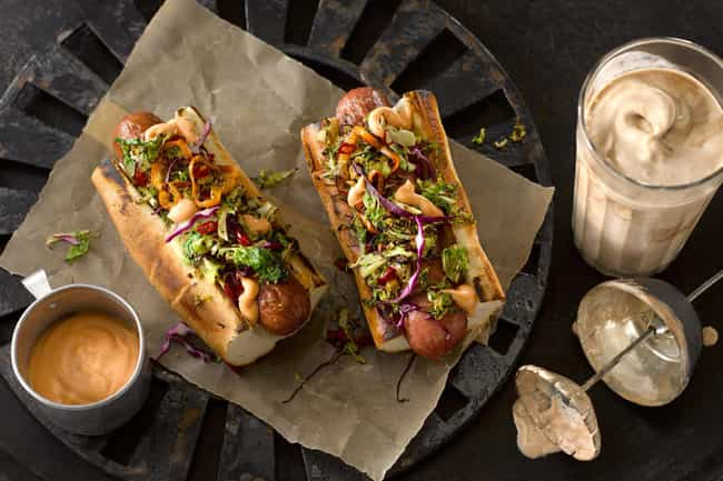 This Beautiful Bahn Mi-Inspire... is listed (or ranked) 3 on the list The Hottest Hot Dogs on All of the Internet