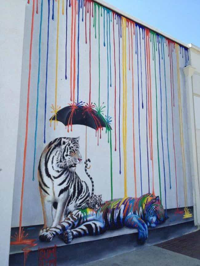 These Tigers Changing Their St... is listed (or ranked) 3 on the list The Most Beautiful Street Art In The World