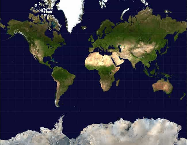 Mercator Projection is listed (or ranked) 2 on the list Some Cool Map Projections and What You Might Use Them For