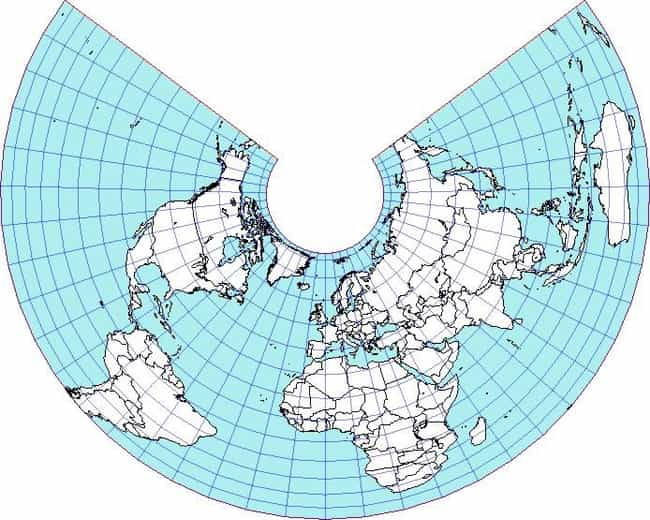 Albers Projection is listed (or ranked) 4 on the list Some Cool Map Projections and What You Might Use Them For