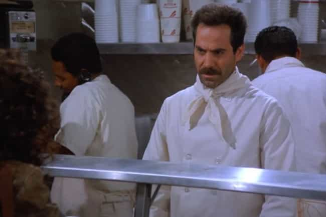 The Saga of the Soup Nazi is listed (or ranked) 1 on the list The Most Memorable Food References on Seinfeld