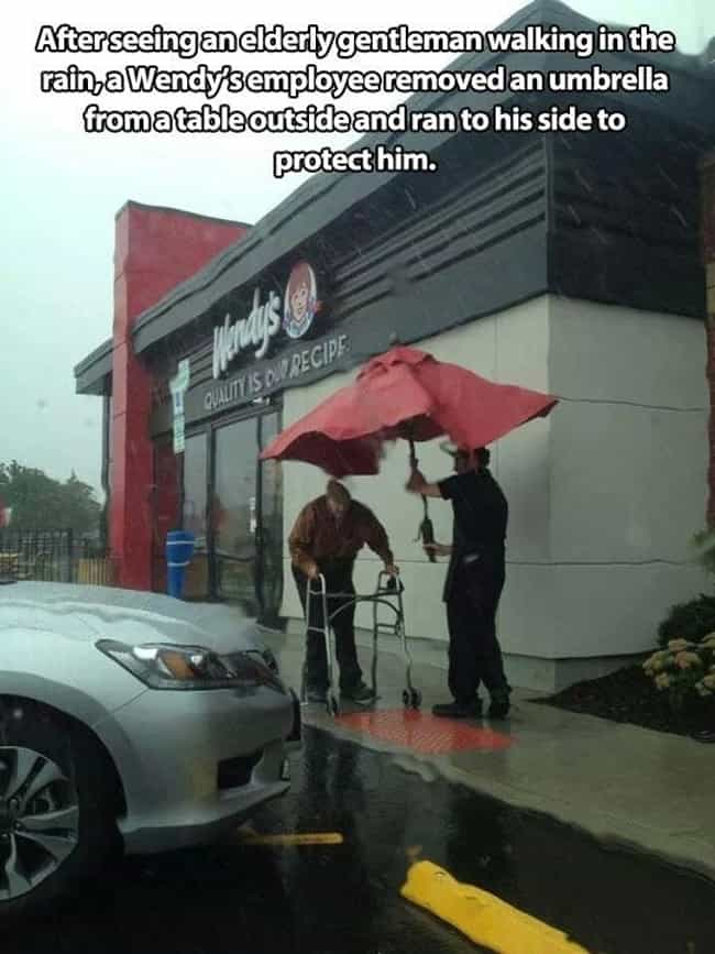 Rainy Days Can Bring out the B... is listed (or ranked) 4 on the list 33 Moments That'll Restore Your Faith in Humanity