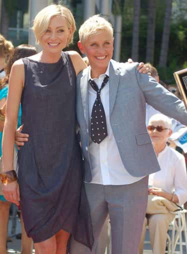 Ellen DeGeneres & Portia de Ro is listed (or ranked) 1 on the list The Coolest Same-Sex Female Power Couples