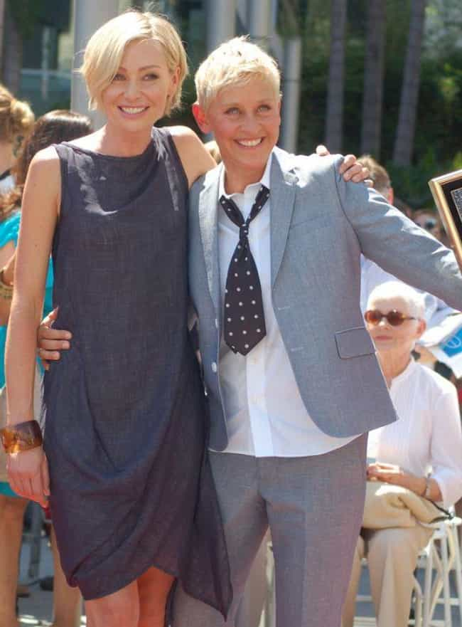 Ellen DeGeneres & Po... is listed (or ranked) 1 on the list The Coolest Same-Sex Female Power Couples