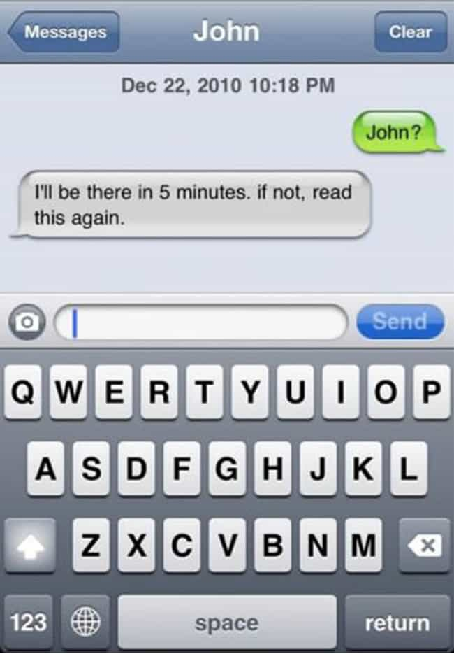 Text BEFORE You're Late is listed (or ranked) 3 on the list Texting Tips You Should Definitely Know