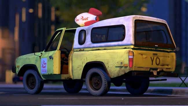 The Infamous Pizza Truck Rides... is listed (or ranked) 1 on the list 27 Easter Eggs Hidden in Pixar's Inside Out